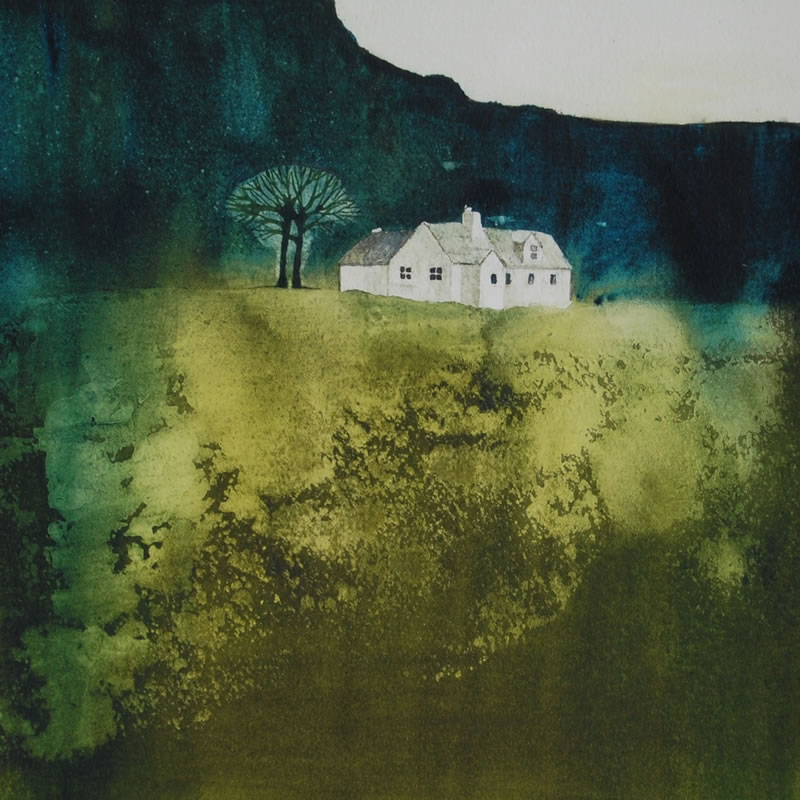 Watercolour Painting Mull - Fraoch Cottage - Lochbuie