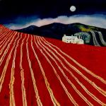 Moonlit Farm with Ploughed Field (SOLD)